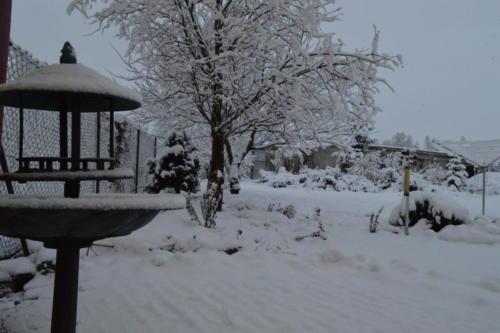 Letošní první sníh